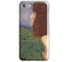 Gustav Klimt - Girl With Blue Veil, 1902 iPhone Case/Skin