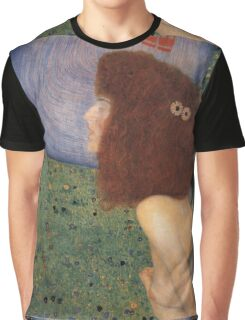 Gustav Klimt - Girl With Blue Veil, 1902 Graphic T-Shirt