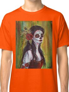 Lila day of the dead art by Renee L Lavoie Classic T-Shirt