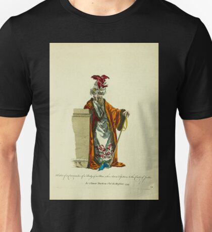 Habit of a commander of a body of 100 men who act as tipstaves to the courts of justice Le chiaoro bachi ou chef des huissiers 1749 081 Unisex T-Shirt