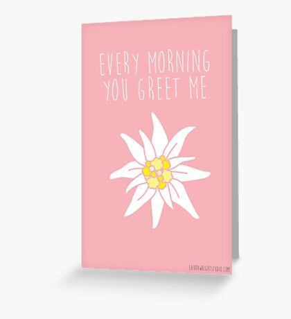 sound of music - edelwies Greeting Card