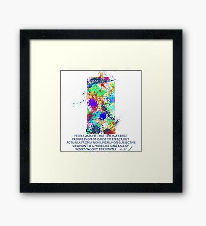 TARDIS - Wibbly-wobbly, timey-wimey stuff Framed Print