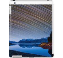 Calm Mountain Lake startrails iPad Case/Skin