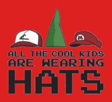 Cool Kids Wear Hats Kids Tee