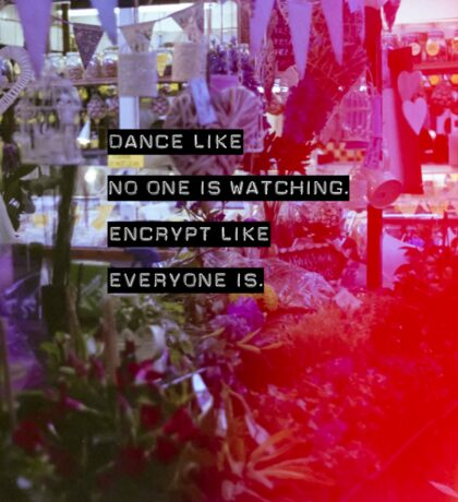 Encrypt like everyone is watching (colour BG) Sticker