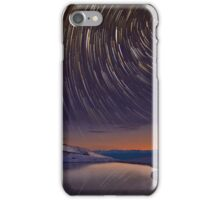 Star Trails over Frozen Lake iPhone Case/Skin