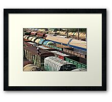 Freight Trains Framed Print