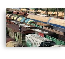 Freight Trains Canvas Print