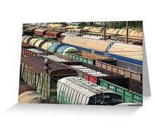 Freight Trains Greeting Card