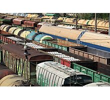Freight Trains Photographic Print