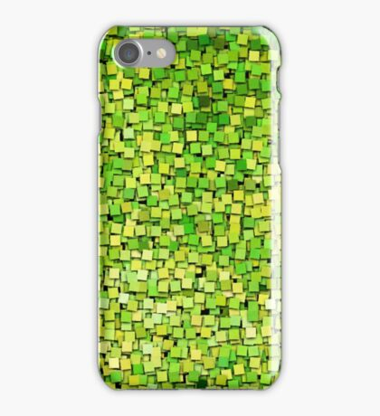 Graphic, Paint Chips, Green (Texture, Background) iPhone Case/Skin