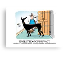 Greyhound Glossary: Ingreysion of Privacy Canvas Print