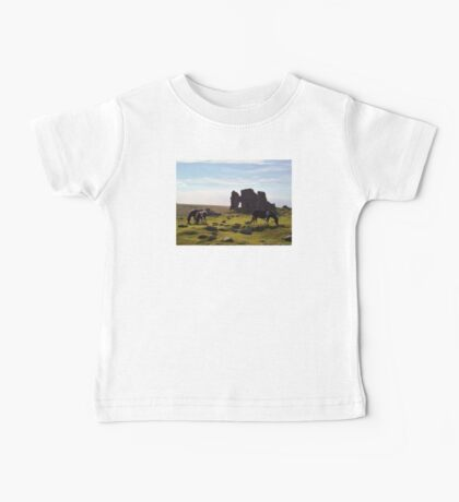 DARTMOOR PONIES AT FOGGINTOR QUARRY RUINS Baby Tee