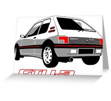 Peugeot 205 GTI 1.9 white Greeting Card