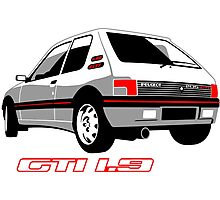Peugeot 205 GTI 1.9 white Photographic Print