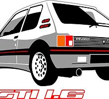 Peugeot 205 GTI 1.6 white by car2oonz