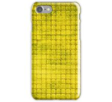 Graphic, Pixel Scape, Yellow (Texture, Background) iPhone Case/Skin