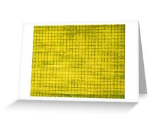 Graphic, Pixel Scape, Yellow (Texture, Background) Greeting Card
