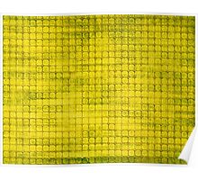 Graphic, Pixel Scape, Yellow (Texture, Background) Poster