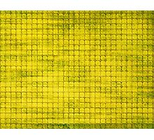 Graphic, Pixel Scape, Yellow (Texture, Background) Photographic Print
