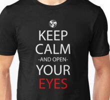 Keep Calm And Open Your Eyes Anime Manga Shirt Unisex T-Shirt