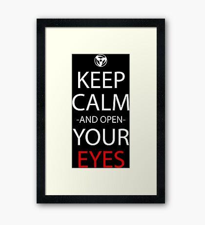 Keep Calm And Open Your Eyes Anime Manga Shirt Framed Print