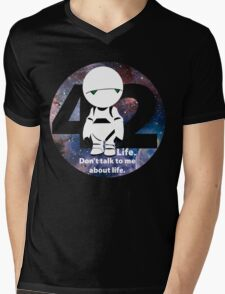 Don't Talk to Me About Life Mens V-Neck T-Shirt