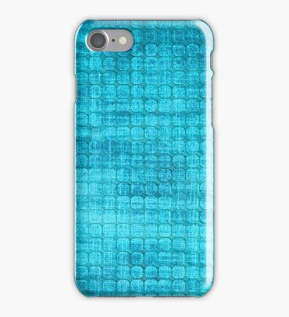 Graphic, Pixel Scape, Blue (Texture, Background) iPhone Case/Skin