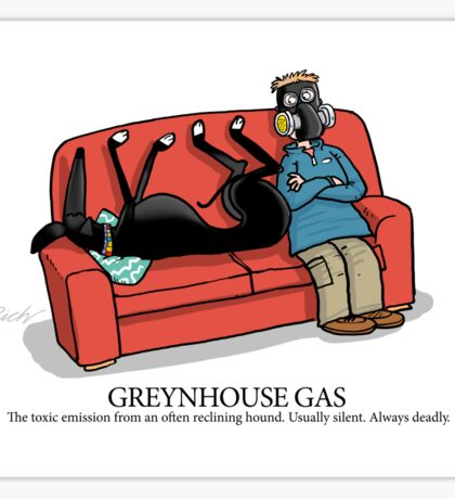 Greyhound Glossary: Greynhouse Gas Sticker