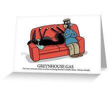 Greyhound Glossary: Greynhouse Gas Greeting Card