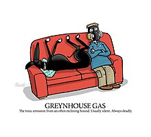 Greyhound Glossary: Greynhouse Gas Photographic Print