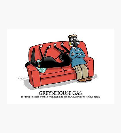 Greyhound Glossary: Greynhouse Gas Photographic Print