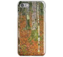 Gustav Klimt - Farmhouse With Birch Trees 1903 iPhone Case/Skin