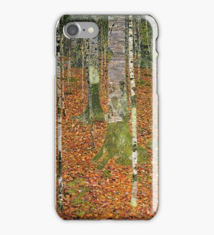 Gustav Klimt - Farmhouse With Birch Trees 1903 iPhone Case/Skin