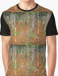 Gustav Klimt - Farmhouse With Birch Trees 1903 Graphic T-Shirt