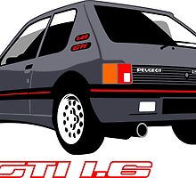 Peugeot 205 GTI 1.6 grey by car2oonz