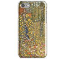 Gustav Klimt - Farm Garden With Crucifix 1912 iPhone Case/Skin