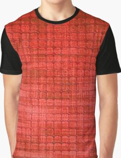 Graphic, Pixel Scape, Red (Texture, Background) Graphic T-Shirt