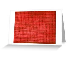 Graphic, Pixel Scape, Red (Texture, Background) Greeting Card