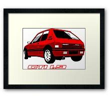 Peugeot 205 GTI 1.9 red Framed Print