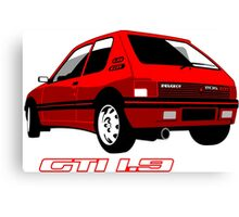 Peugeot 205 GTI 1.9 red Canvas Print