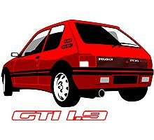 Peugeot 205 GTI 1.9 red Photographic Print