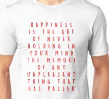 HAPPINESS QUOTE. Unisex T-Shirt