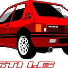 Peugeot 205 GTI 1.6 red by car2oonz