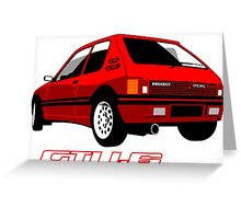 Peugeot 205 GTI 1.6 red Greeting Card