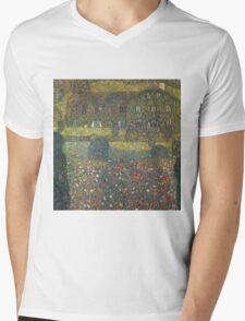 Gustav Klimt - Country House By The Attersee Mens V-Neck T-Shirt
