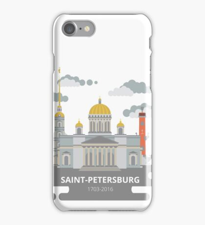 Saint-Petersburg flat cityscape. iPhone Case/Skin