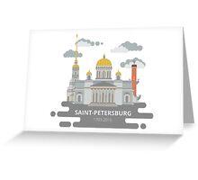 Saint-Petersburg flat cityscape. Greeting Card