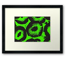 Graphic, Kiwi, Green (Wallpaper, Background) Framed Print
