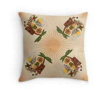 Tattoo Tkki Hawaii Throw Pillow
